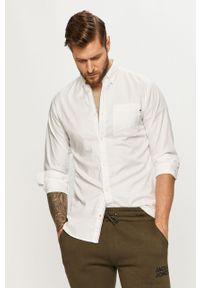 Biała koszula Jack & Jones na co dzień, długa, casualowa
