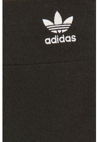adidas Originals - Legginsy. Stan: podwyższony. Kolor: czarny. Materiał: dzianina. Wzór: nadruk