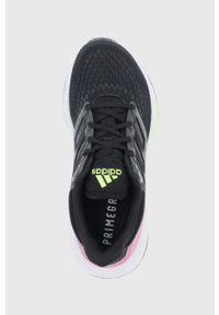 Adidas - adidas - Buty EQ21 Run. Nosek buta: okrągły. Zapięcie: sznurówki. Kolor: czarny. Materiał: materiał. Sport: bieganie