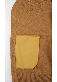 Lasota - Sweter Brązowy Elegancki Kardigan, Zapinany na Guziki -LASOTA- Męski. Okazja: na co dzień. Kolor: brązowy, wielokolorowy, beżowy. Materiał: bawełna, akryl. Styl: elegancki #5