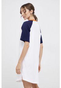 TOMMY HILFIGER - Tommy Hilfiger - Koszulka nocna. Kolor: niebieski. Materiał: włókno, dzianina, materiał. Długość: krótkie. Wzór: nadruk