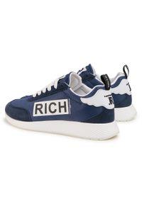 Niebieskie sneakersy John Richmond z cholewką, na co dzień