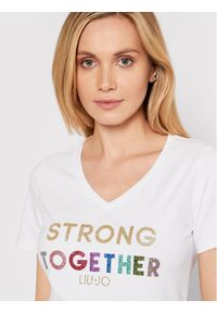 Liu Jo Sport T-Shirt TA1212 J5972 Biały Regular Fit. Kolor: biały. Styl: sportowy