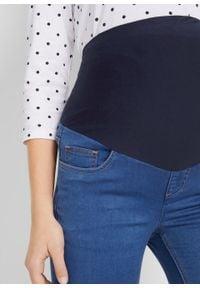 Niebieskie jeansy bonprix na lato, klasyczne, moda ciążowa