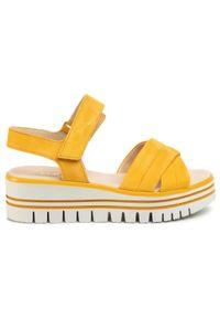 Żółte sandały Gabor na co dzień, casualowe