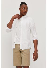 Biała koszula Jack & Jones gładkie, na co dzień, button down