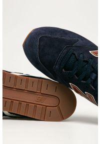 Niebieskie sneakersy New Balance z cholewką, z okrągłym noskiem, na sznurówki