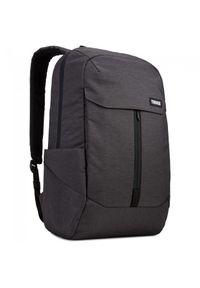 Czarny plecak na laptopa THULE w kolorowe wzory