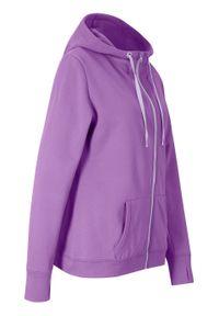 Bluza rozpinana, długi rękaw bonprix głęboki bez - pastelowy bez. Kolor: fioletowy. Długość rękawa: długi rękaw. Długość: długie