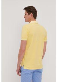 Żółta koszulka polo Pepe Jeans z aplikacjami, krótka