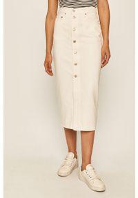 Biała spódnica Levi's® casualowa, na spotkanie biznesowe