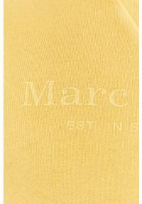 Żółta bluza nierozpinana Marc O'Polo na co dzień, casualowa, polo, z nadrukiem