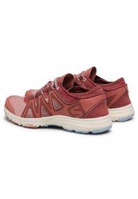 Czerwone buty do fitnessu salomon na co dzień, z cholewką