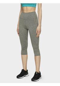Szare spodnie sportowe 4f z podwyższonym stanem