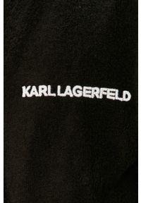 Czarny szlafrok Karl Lagerfeld gładki