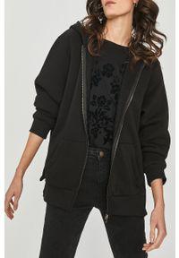 Czarna bluza Answear Lab długa, z długim rękawem
