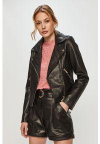 Czarna kurtka Morgan klasyczna, bez kaptura