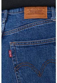 Levi's® - Levi's - Jeansy Ribcage Straight Ankle. Okazja: na spotkanie biznesowe. Kolor: niebieski. Styl: biznesowy