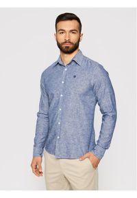 North Sails Koszula L/S Point Collar 664007 Granatowy Regular Fit. Kolor: niebieski