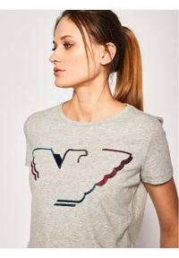 Emporio Armani T-Shirt 3H2T6C 2JQAZ 0616 Szary Regular Fit. Kolor: szary