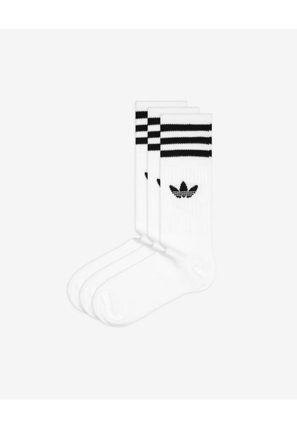 Białe skarpetki adidas Originals w kolorowe wzory
