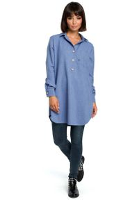 Niebieska koszula MOE długa