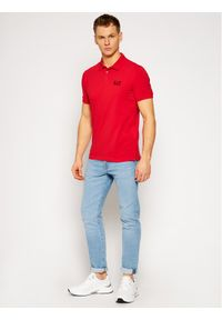 Czerwona koszulka polo EA7 Emporio Armani polo