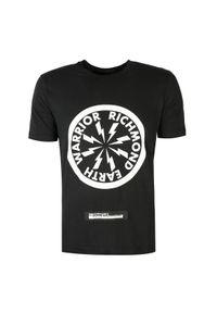 """John Richmond T-Shirt """"Indiana"""". Okazja: na co dzień. Materiał: tkanina. Długość rękawa: krótki rękaw. Długość: krótkie. Wzór: nadruk. Styl: casual"""
