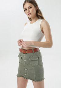 Zielona spódnica mini Born2be