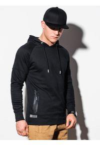 Ombre Clothing - Bluza męska z kapturem B1080 - czarna - XXL. Typ kołnierza: kaptur. Kolor: czarny. Materiał: bawełna, poliester