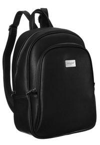 DAVID JONES - Plecak damski czarny David Jones CM6010 BLACK. Kolor: czarny. Materiał: skóra ekologiczna