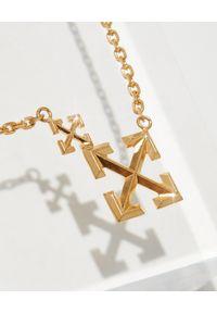 OFF-WHITE - Złoty naszyjnik ze strzałami. Materiał: złote. Kolor: złoty. Wzór: ze splotem