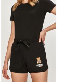 Moschino Underwear - Szorty. Okazja: na co dzień. Kolor: czarny. Materiał: dzianina. Wzór: nadruk. Styl: casual