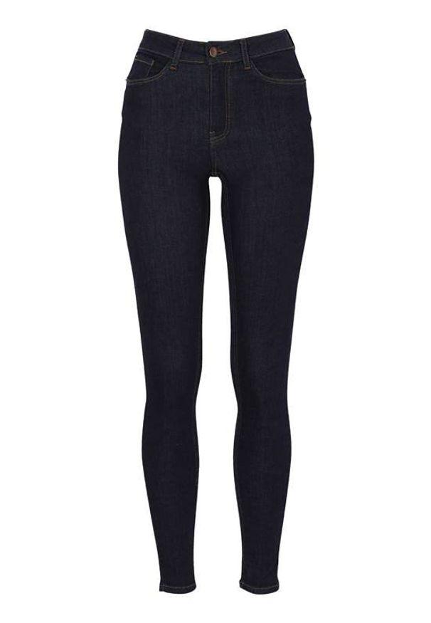 Niebieskie jeansy Happy Holly z podwyższonym stanem, klasyczne