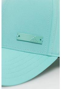 Turkusowa czapka z daszkiem adidas Performance gładkie