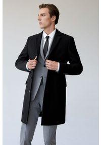 Czarny płaszcz Mango Man klasyczny, bez kaptura