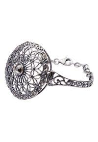Polcarat Design - Srebrna bransoletka Swarovski R 1505. Materiał: srebrne. Kolor: srebrny. Wzór: aplikacja. Kamień szlachetny: kryształ