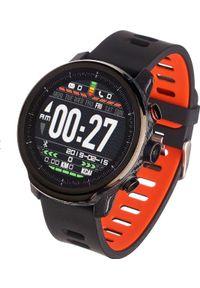 Czerwony zegarek Garett Electronics sportowy, smartwatch
