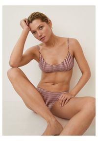mango - Mango Bikini Rib 87014388 Bordowy. Kolor: czerwony