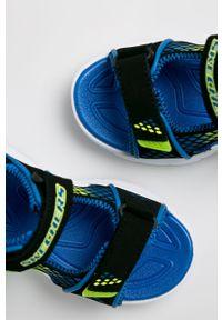 Czarne sandały skechers na rzepy
