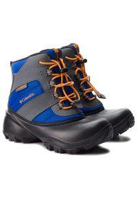Szare buty zimowe columbia na spacer