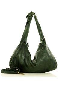 Torebka damska zielona MARCO MAZZINI v101c. Kolor: zielony. Materiał: skórzane. Styl: vintage, casual