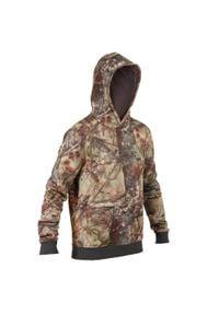SOLOGNAC - Bluza z kapturem 500 Camo BR. Typ kołnierza: kaptur. Kolor: brązowy. Materiał: elastan, poliester, materiał, bawełna