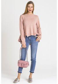 Sweter TwinSet krótki, z długim rękawem, na spacer