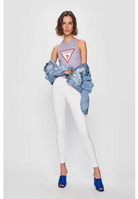 Białe jeansy Vero Moda gładkie