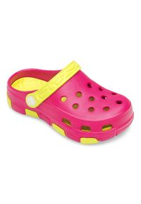 REALPAKS - Klapki dziecięce Realpaks F-401 Różowo-Zielone. Okazja: na plażę. Kolor: zielony, różowy, wielokolorowy. Materiał: tworzywo sztuczne. Styl: młodzieżowy