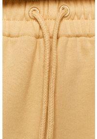 Samsoe & Samsoe - Samsoe Samsoe - Spodnie. Kolor: żółty. Materiał: dzianina. Wzór: gładki #4