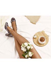 Czarne czółenka Zapato eleganckie, z okrągłym noskiem, na wesele