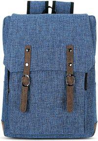 Beniamin Plecak młodzieżowy z klapą Basic - niebieski. Kolor: niebieski. Styl: młodzieżowy