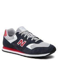 New Balance - Sneakersy NEW BALANCE - ML393VR1 Granatowy. Okazja: na co dzień. Kolor: niebieski. Materiał: skóra, zamsz. Szerokość cholewki: normalna. Styl: klasyczny, casual